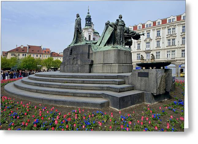 Czech Republik Greeting Cards - Old town square Greeting Card by Yury Maselov