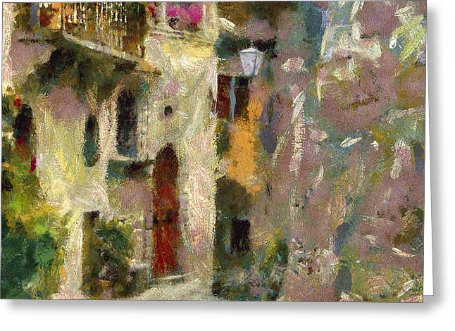 Old Town Digital Greeting Cards - Old Town Street Greeting Card by Yury Malkov