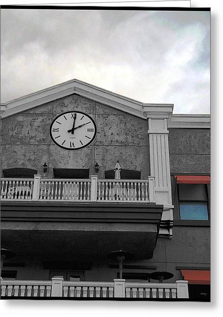Old Towns Digital Art Greeting Cards - Old Town Temecula - The Clock Greeting Card by Glenn McCarthy