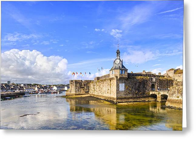 Old Town Walls Concarneau Brittany Greeting Card by Colin and Linda McKie