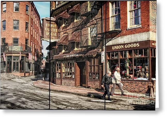 Boston Ma Greeting Cards - Old Towne Boston II Greeting Card by Mary Lou Chmura
