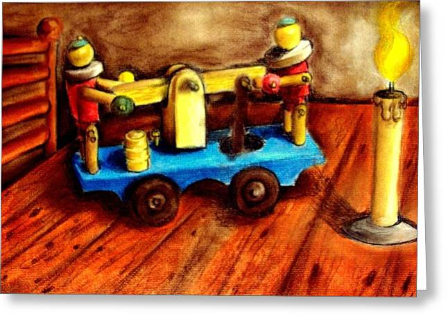 Old toys Greeting Card by Michael Alvarez