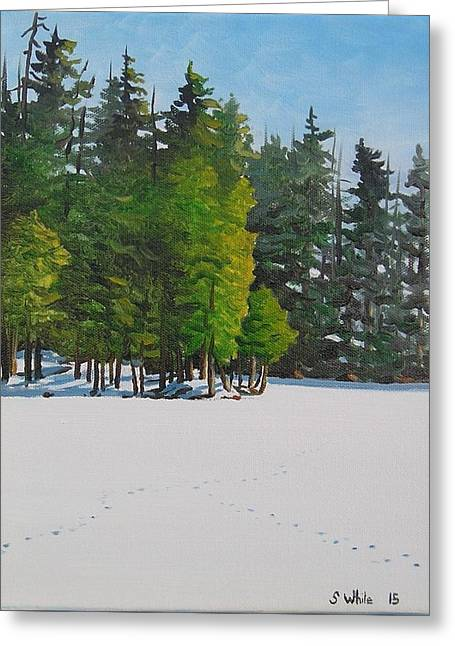 Kingston Paintings Greeting Cards - Old Tracks Greeting Card by Scott White