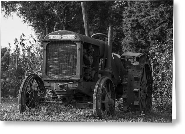 Western Ky Greeting Cards - Old Tractor Greeting Card by Amber Kresge