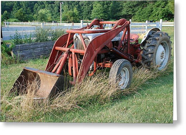 old tractor Greeting Card by Jennifer Lyon