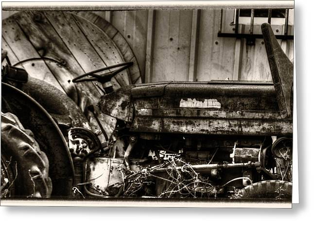 Junk Mixed Media Greeting Cards - Old Tractor - Series XV Greeting Card by Michael Braham