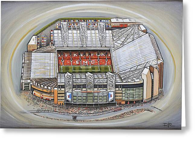 Soccer Greeting Cards Greeting Cards - Old Trafford - Manchester United Greeting Card by D J Rogers