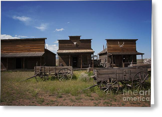 Old Cabins Greeting Cards - Old Trail Town Greeting Card by Juli Scalzi