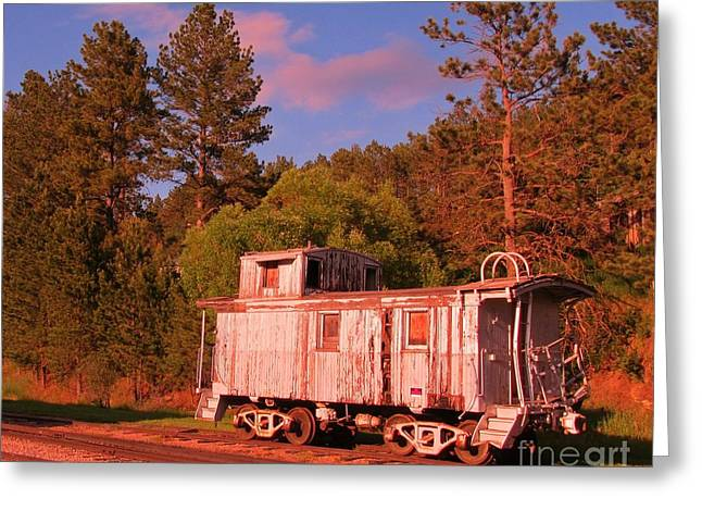 Old Train Caboose Greeting Card by John Malone