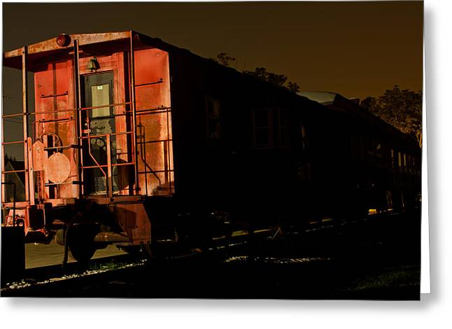 La Grange Greeting Cards - Old Train Greeting Card by Chris Fender