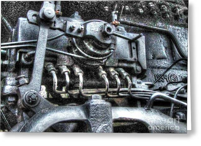 People Pyrography Greeting Cards - Old Train element Greeting Card by Yury Bashkin