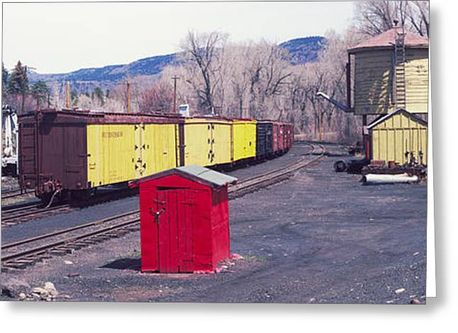 Public Transportation Greeting Cards - Old Train Terminal, Chama, New Mexico Greeting Card by Panoramic Images