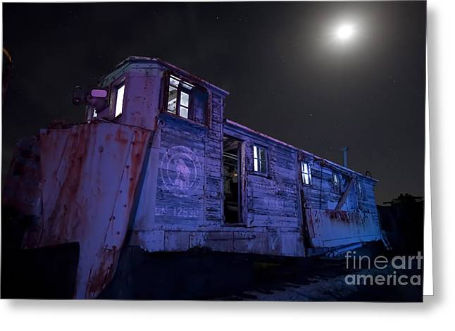 Boiler Greeting Cards - Old train trail snow plow Greeting Card by Keith Kapple