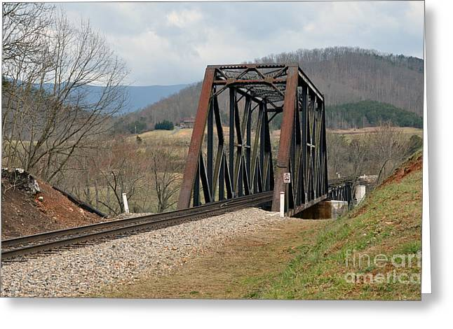 Natural Bridge Station Greeting Cards - Old Train Trestle Greeting Card by Brenda Dorman
