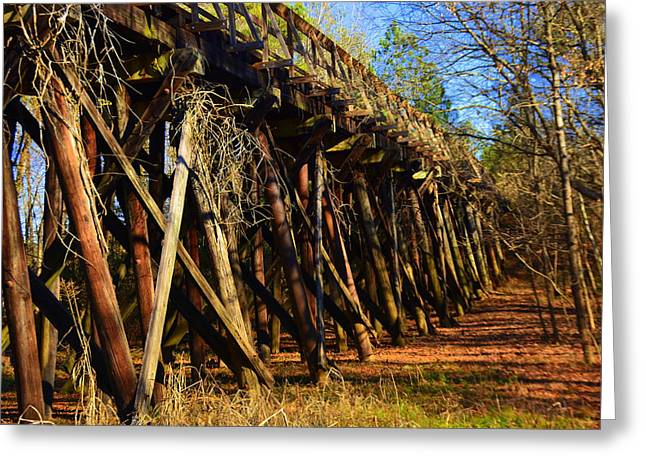 Old Train Trestle Greeting Card by Lisa Wooten