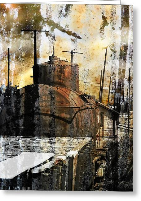 Old Relics Digital Greeting Cards - Old Train Yard II Greeting Card by Robert Ball