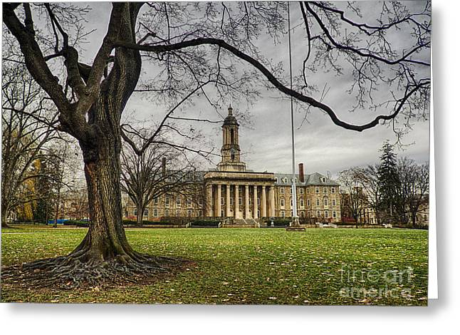 Penn State Greeting Cards - Old Tree at Old Main Greeting Card by Mark Miller