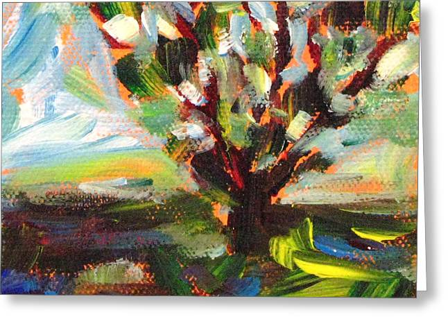 Brushtrokes Greeting Cards - Old Tree By The Road Greeting Card by Robie Benve
