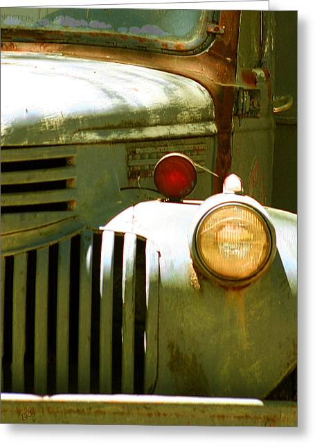 Old Cabins Greeting Cards - Old Truck Abstract Greeting Card by Ben and Raisa Gertsberg