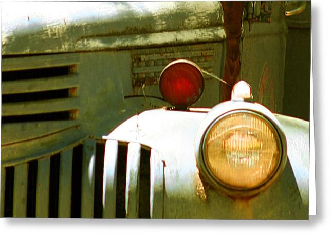 Old Truck Abstract Greeting Card by Ben and Raisa Gertsberg