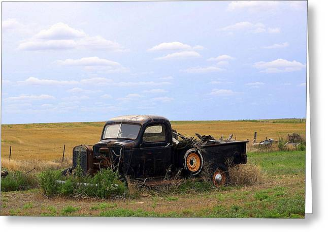 Take Over Greeting Cards - Old Truck  Greeting Card by Clarice  Lakota