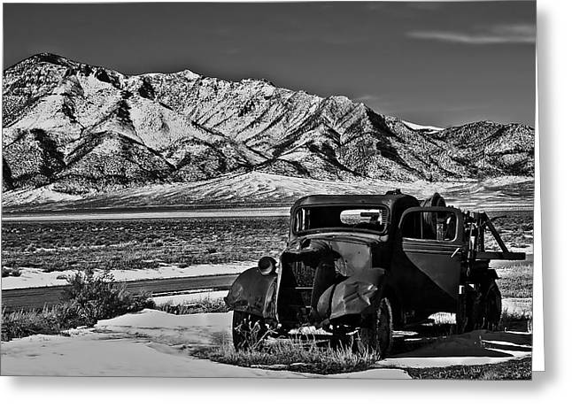 Haybale Greeting Cards - Old Truck Greeting Card by Robert Bales