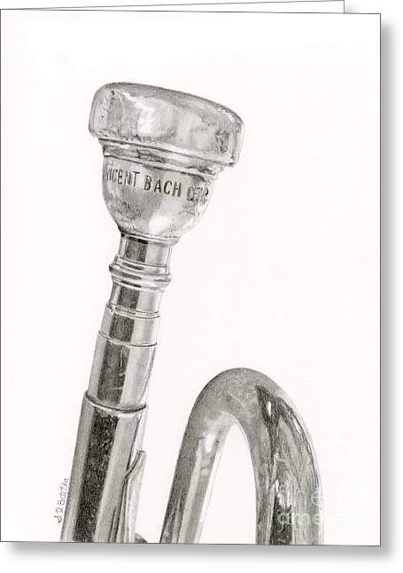 Best Sellers -  - Marching Band Greeting Cards - Old Trumpet Greeting Card by Sarah Batalka