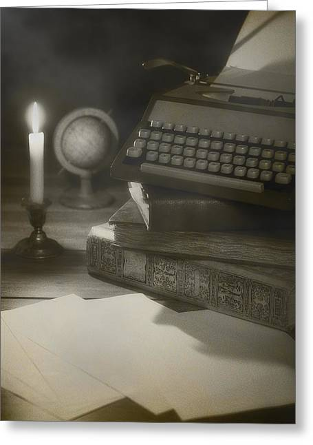 Typewriter Greeting Cards - Old Typewriter Greeting Card by Amanda And Christopher Elwell