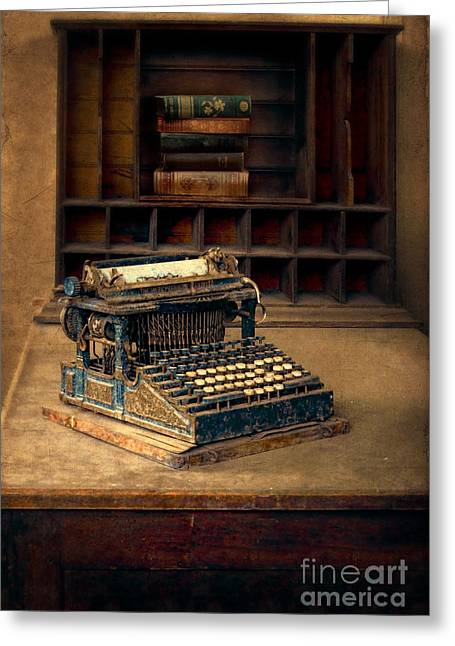 Typewriter Keys Greeting Cards - Old Typewriter Greeting Card by Jill Battaglia