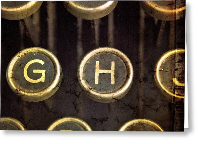 Typewriter Greeting Cards - Old typrewater Greeting Card by Bernard Jaubert