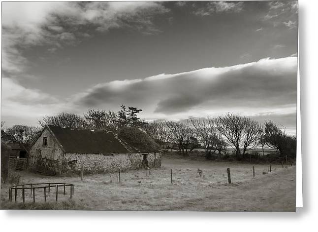 Farm Structure Greeting Cards - Old Unused Farm Near Ballyvooney, The Greeting Card by Panoramic Images