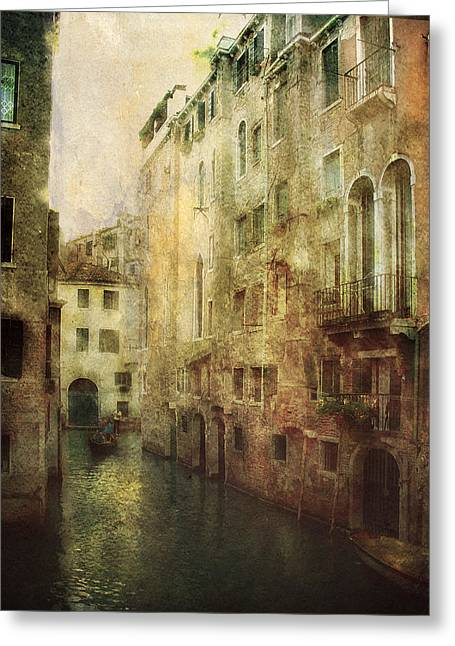 Julie Palencia Greeting Cards - Old Venice Greeting Card by Julie Palencia