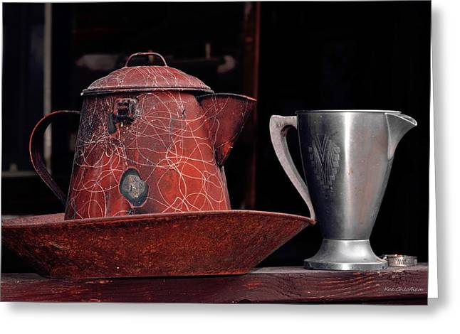 Silver Pitcher Greeting Cards - Old Vessels Greeting Card by Kae Cheatham