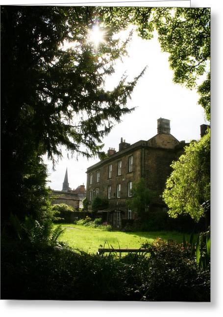Park Scene Mixed Media Greeting Cards - Old Victorian Mansion And Grounds - Peak District - England Greeting Card by Michael Braham