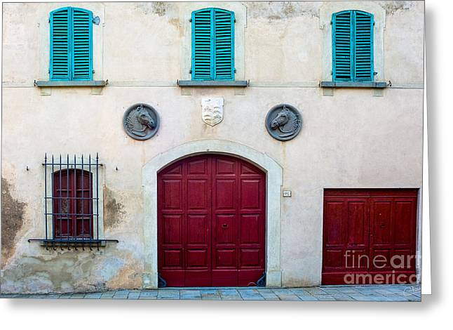 Charly Greeting Cards - Old Villa Stables Greeting Card by Prints of Italy