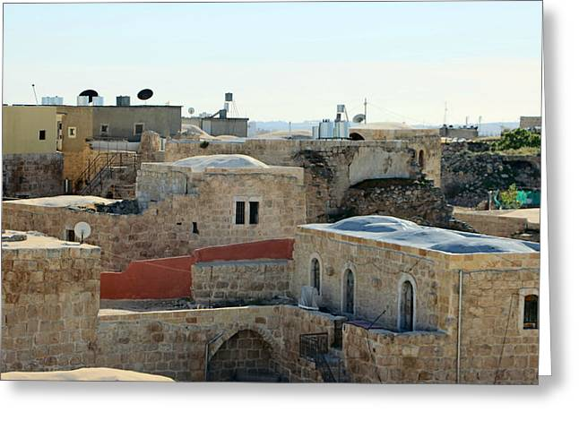 Hebron Greeting Cards - Old Village of Al Dhahiriya Greeting Card by Munir Alawi