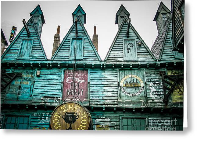 Store Fronts Greeting Cards - Old Village Greeting Card by Perry Webster