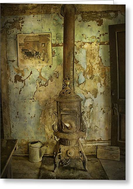 Randy Greeting Cards - Old Vintage Stove Greeting Card by Randall Nyhof