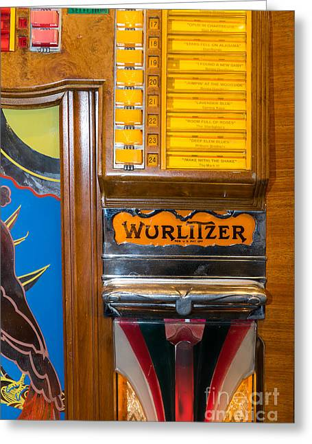 Music Ipod Greeting Cards - Old Vintage Wurlitzer Jukebox DSC2780 Greeting Card by Wingsdomain Art and Photography