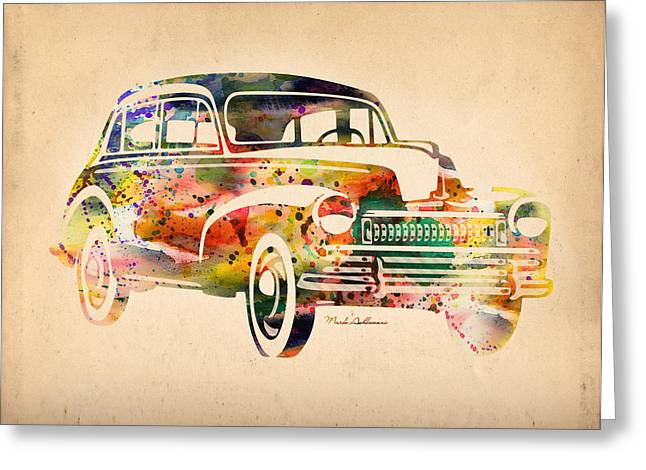 Beetle Greeting Cards - Old Volkswagen Greeting Card by Mark Ashkenazi