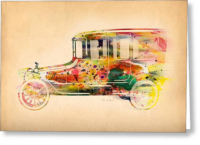 old volkswagen3 Greeting Card by Mark Ashkenazi