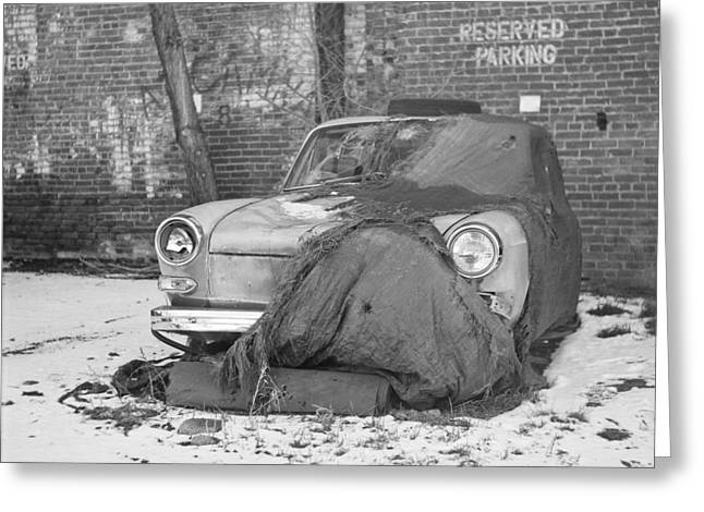Old Vw Squareback Greeting Card by Steve G Bisig