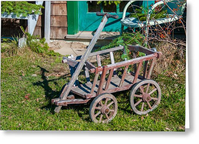 Best Sellers -  - Maine Farmhouse Greeting Cards - Old Wagon Greeting Card by Guy Whiteley