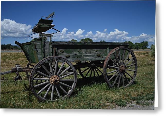 Old Wagon  Greeting Card by Jeff Swan
