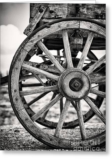Rust Greeting Cards - Old wagon wheels Greeting Card by Jane Rix