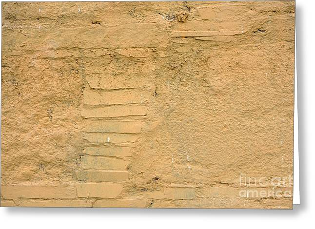 Sand Pattern Greeting Cards - Old wall background Greeting Card by IB Photo