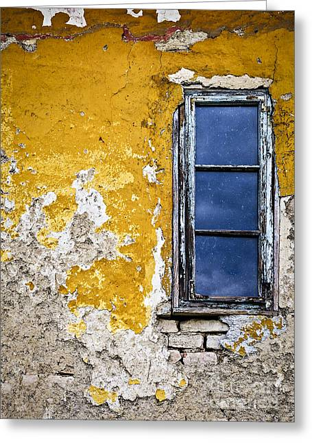 Window Frame Greeting Cards - Old wall in Serbia Greeting Card by Elena Elisseeva