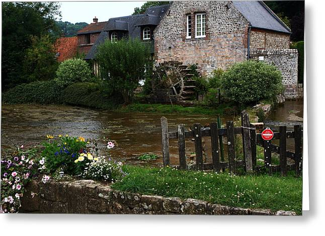 Prawn Boat Greeting Cards - Old Water Mill Greeting Card by Aidan Moran