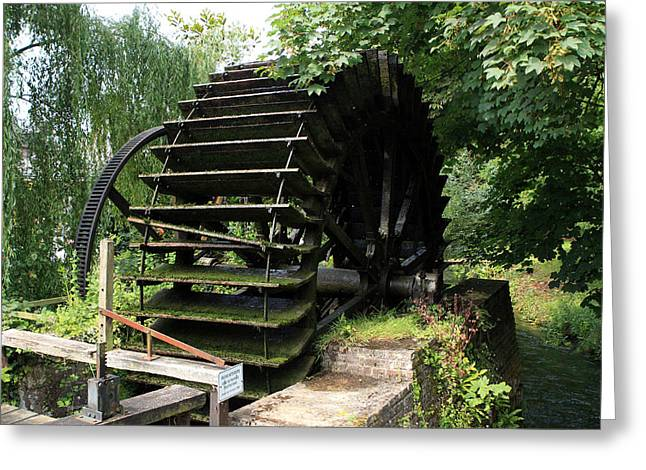 Prawn Boat Greeting Cards - Old Waterwheel Greeting Card by Aidan Moran