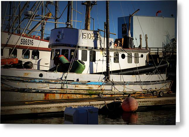 Santa Cruz Pier Greeting Cards - Old Weathered Crab Boat Greeting Card by Scott Hill